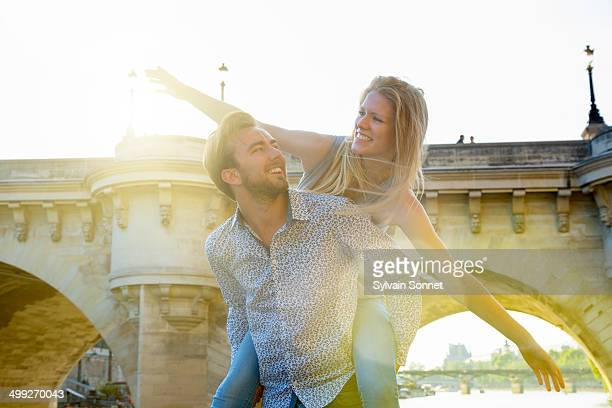 Young couple visiting Paris