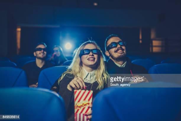 若いカップルながら映画