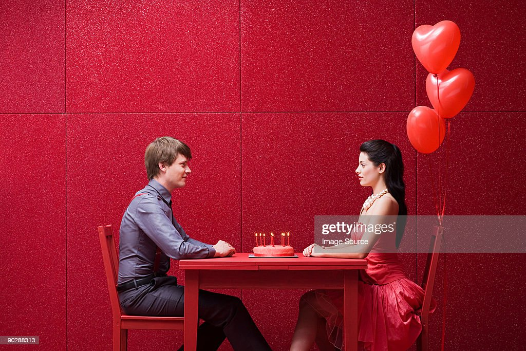 Young couple with cake : Stock Photo