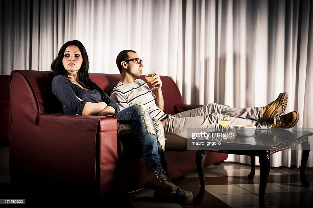 Young couple with problems : Stock Photo