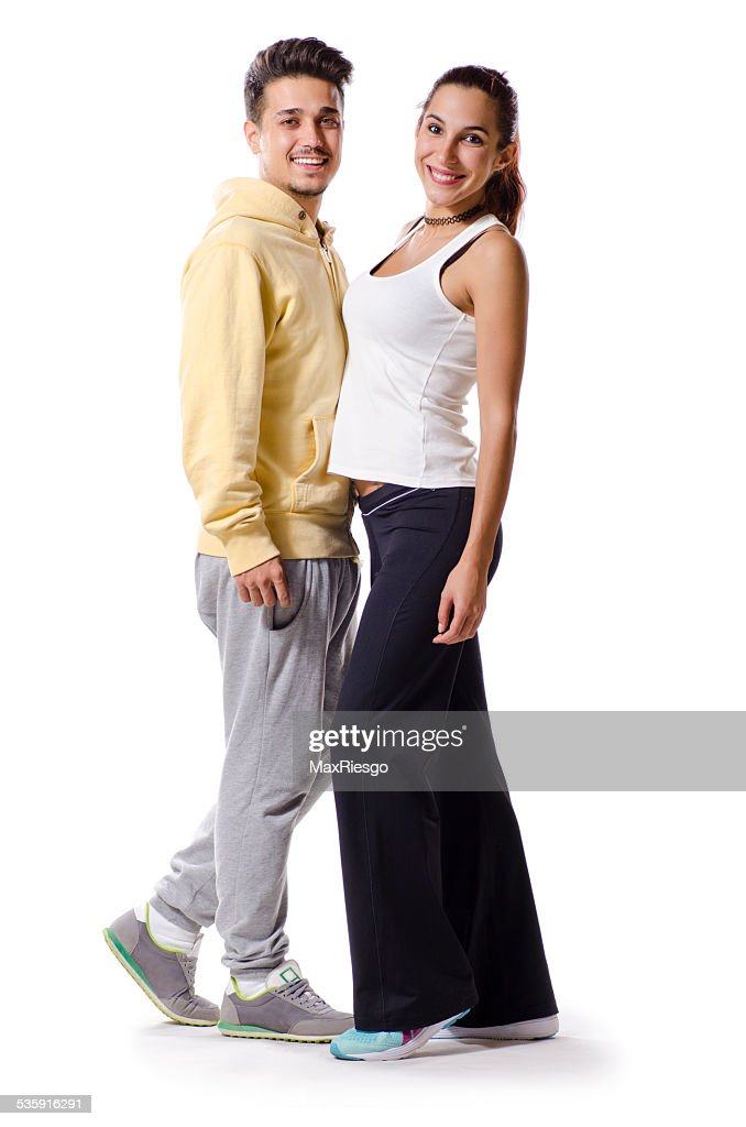 Young couple with sportswear : Stock Photo