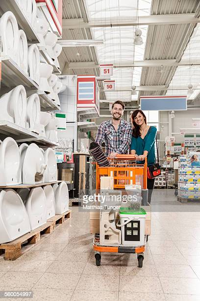 Young couple with their shopping trolley