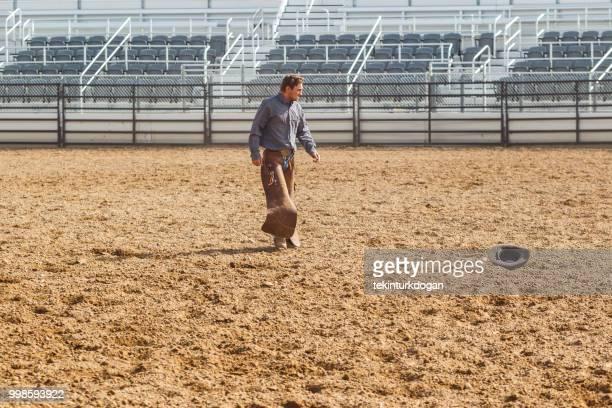 young cowboy at paddock arena nephi