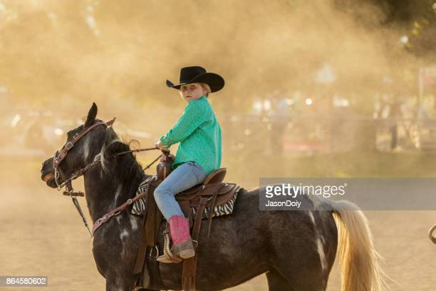 Junge Cowgirl