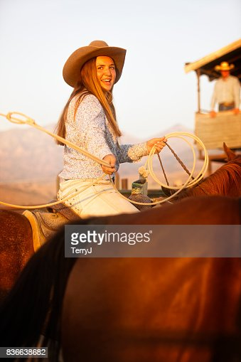 Young Cowgirl with a Surprised Look on Her Face