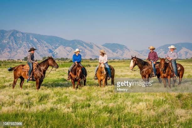Young Cowgirls and Cowboys Having Fun Together