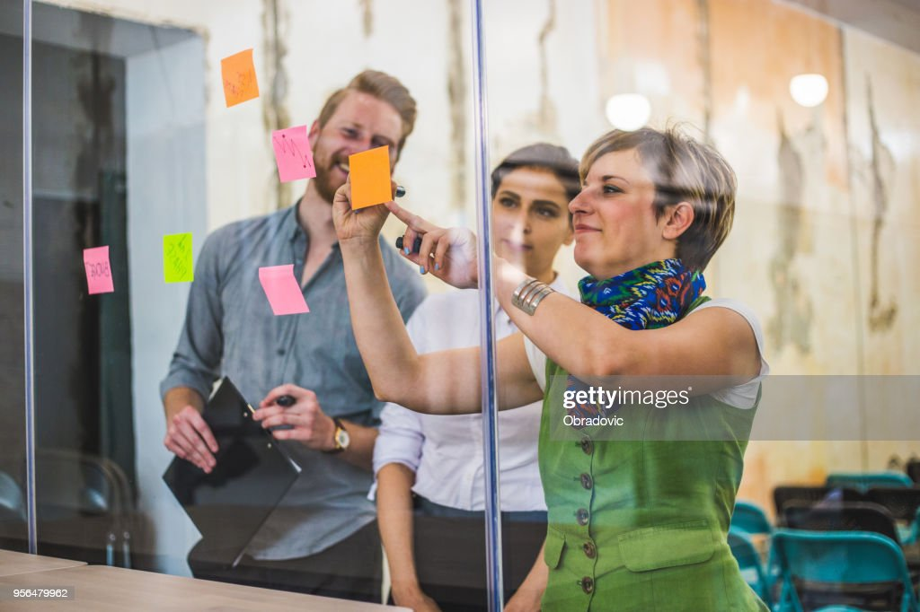 Young creative business people meeting at office : Stock Photo