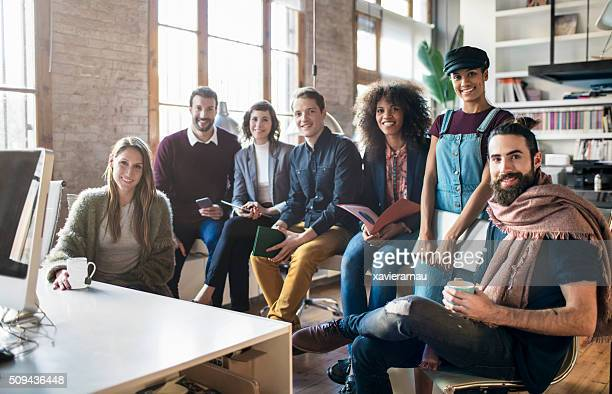 Young creative business startup people