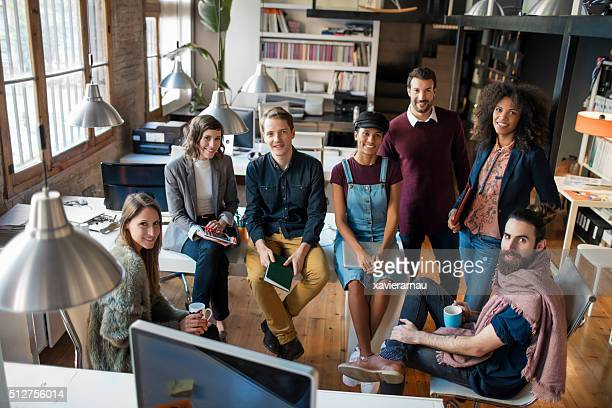 young creative business startup people - organized group photo stock pictures, royalty-free photos & images