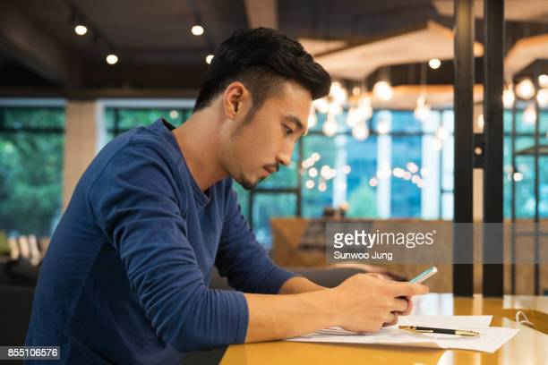 Young creative professional working in modern office