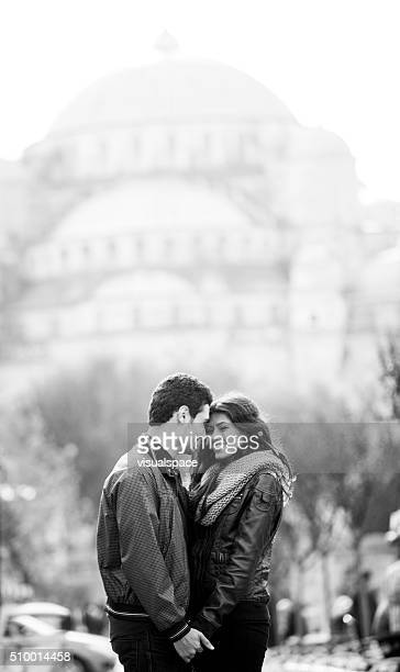 Young Cute Couple In A Middle Eastern City