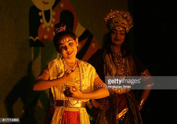 A young dancer gives a performance during the traditional dance slot at the Celebrate Bandra festival on Monday at the Carter promenade