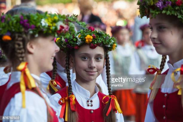 young dancers - latvia stock pictures, royalty-free photos & images