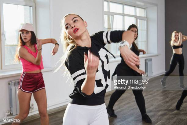 Young dancers practicing in rehearsal studio