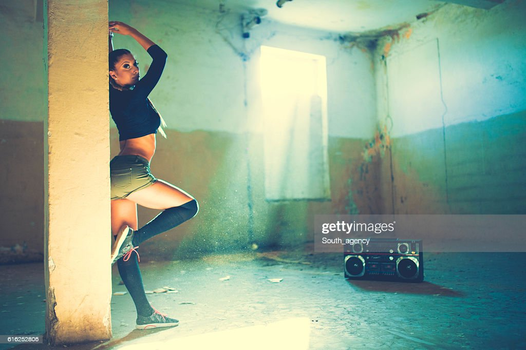 Young dancing girl : Stock Photo