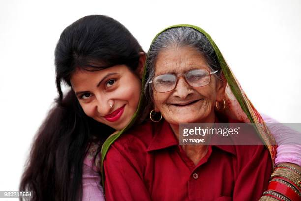 Young daughter and Grandmother