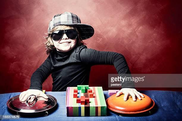 young dj の裏側のデッキをご用意。 - クラブdj ストックフォトと画像