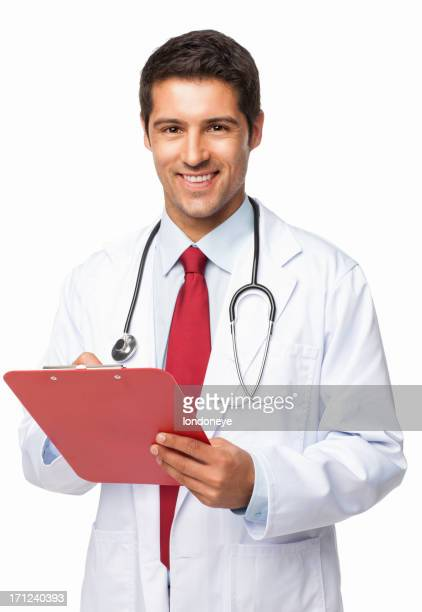 Young Doctor Writing Prescription - Isolated