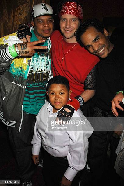 Young Dre Jamie Kennedy and Emmanuel Lewis during Kickin' It Old Skool Los Angeles Premiere After Party at Music Box in Los Angeles California United...
