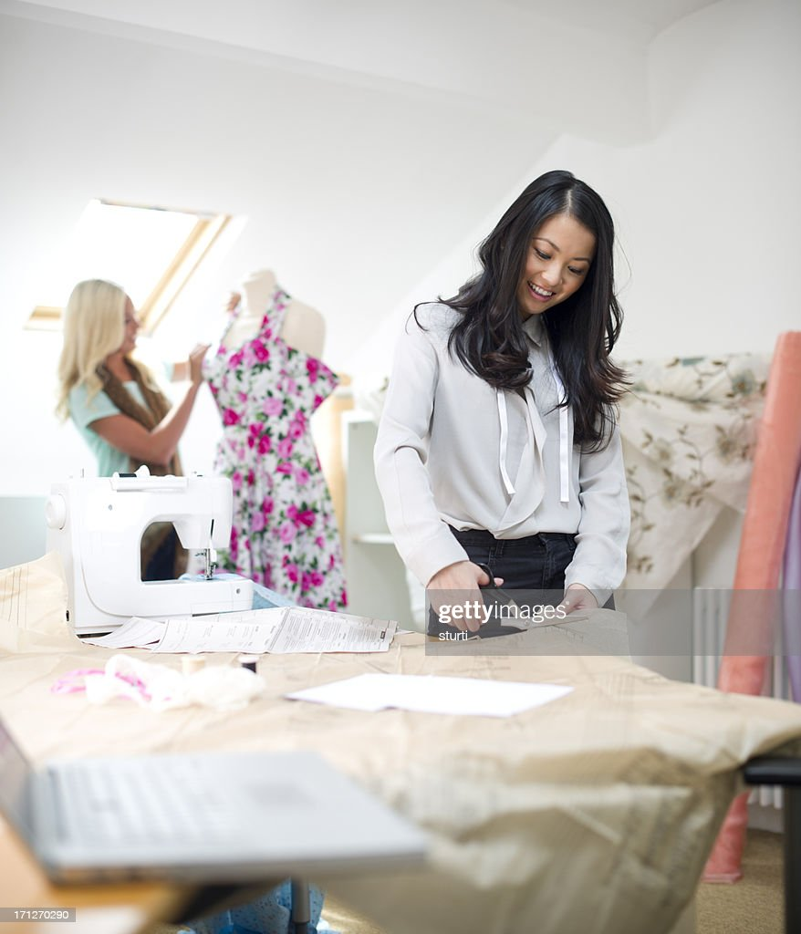 young dressmakers : Stock Photo