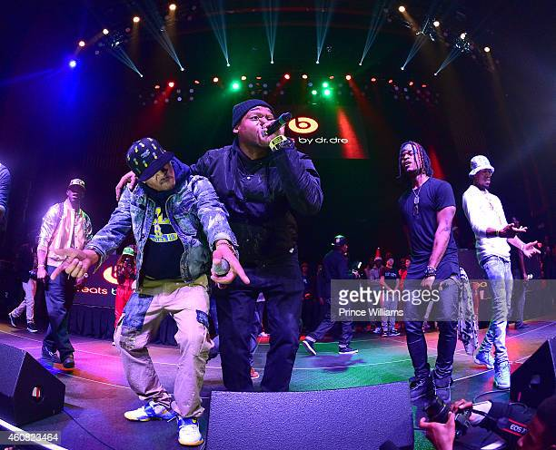 Young Dro, T.I., Spodie, Rashaad and Young Booke attend the 5th annual Street execs christmas Concert at The Tabernacle on December 22, 2014 in...