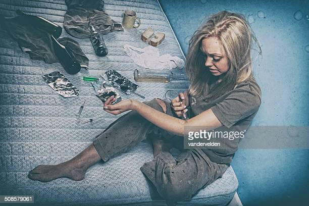 young drug addict - addict stock photos and pictures