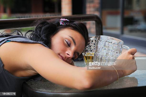 young drunk lady after party - drunk woman stock pictures, royalty-free photos & images