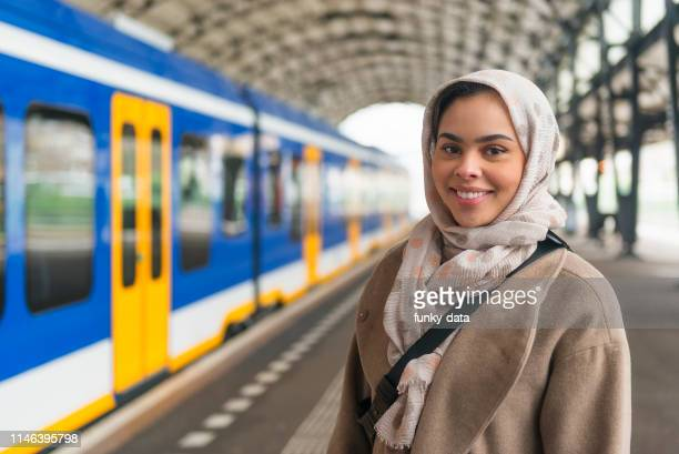 young dutch muslim girl - minority groups stock pictures, royalty-free photos & images