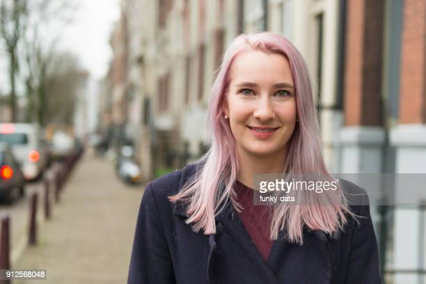 young dutch woman portrait - dutch culture stock pictures, royalty-free photos & images