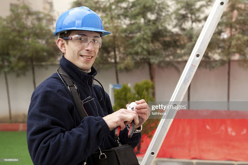 Young Electrician : Stock Photo