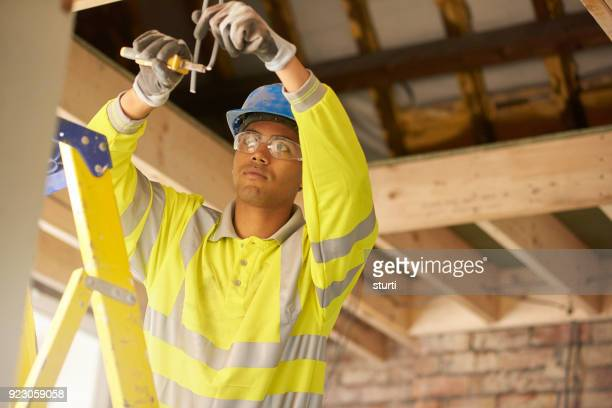 young electrician working on a remodel