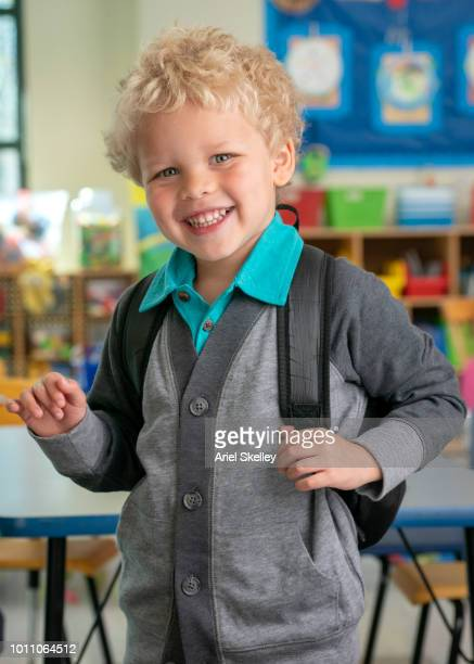Young Elementary School Student in Classroom