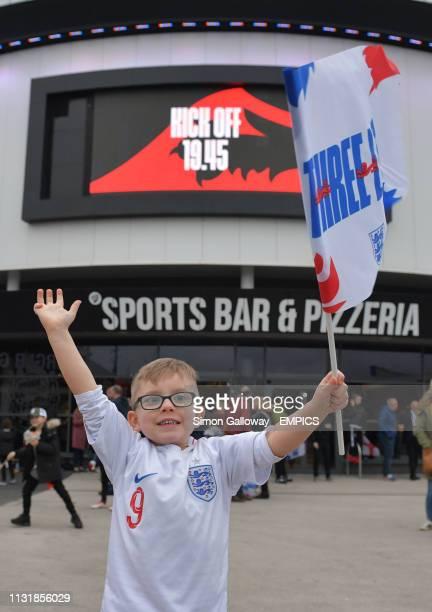 Young England fan before the game England U21 v Poland U21 - International Friendly - Ashton Gate .