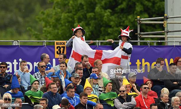 Young England fans wave their flag during day three of the 2nd Investec Test match between England and Sri Lanka at Emirates Durham ICG on May 29...