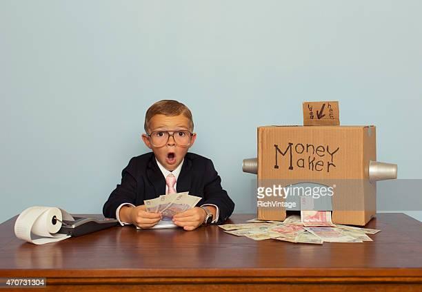 Young English Boy Makes Big Money
