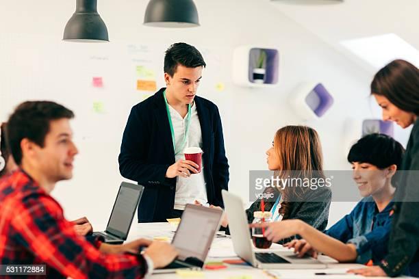 Young Entrepreneurs Collaborating.