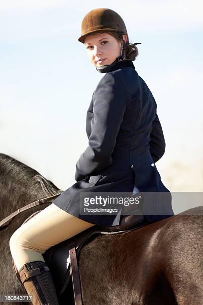 若い女性騎手