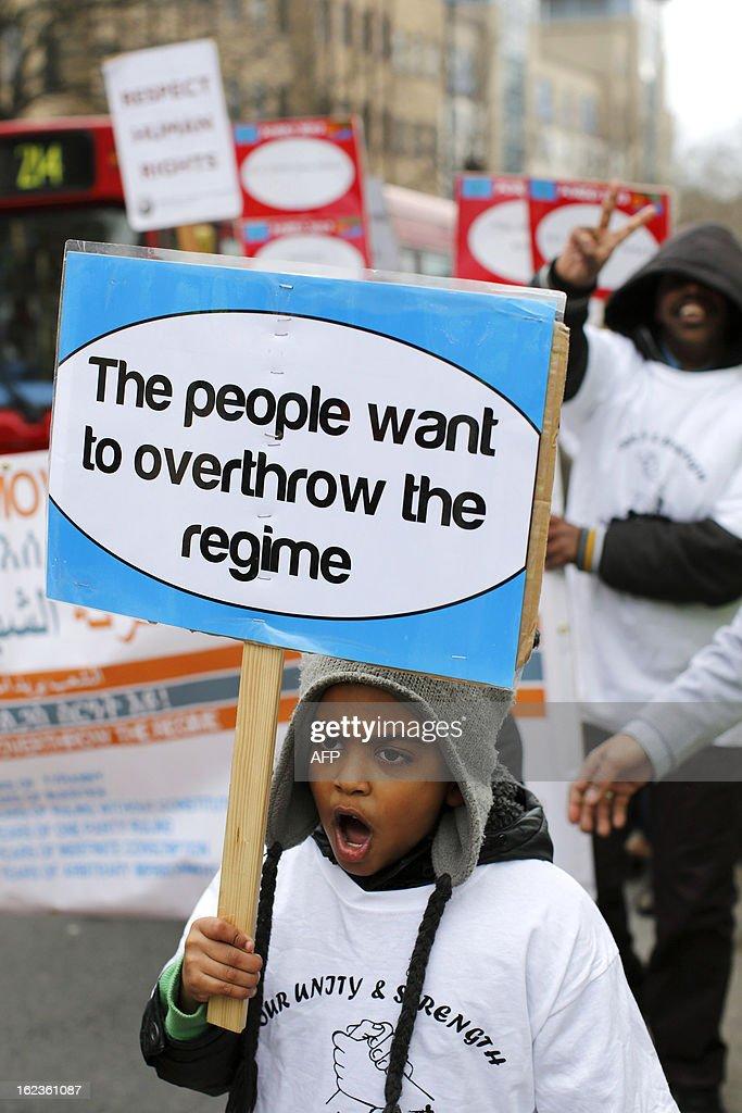 Britain Eriteria Politics Protest News Photo
