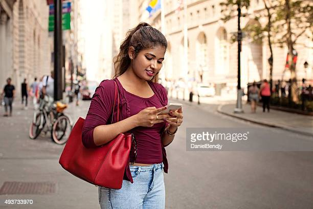 Young ethnic woman in the city