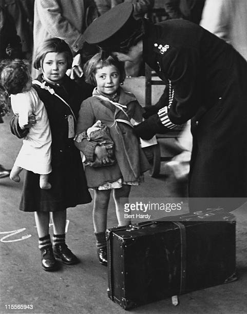 Young evacuees leaving Paddington Station in London for safer rural areas during World War II May 1942 Original Publication Picture Post 1133 Wartime...