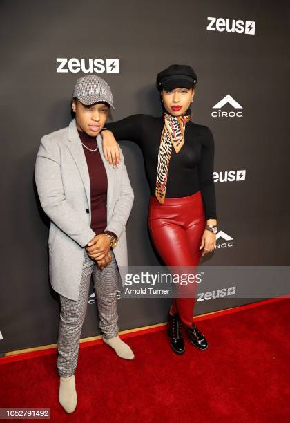 Young Ezee and Natalie Odell attend the ZEUS New Series Premiere Party X CIROC Black Raspberry on October 19 2018 in Burbank California