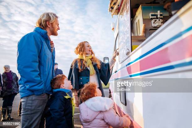 Young Family at an Ice-Cream Van