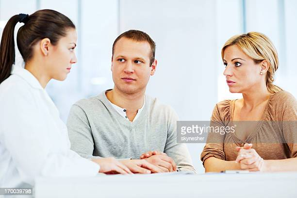 Young family visiting a psychologist
