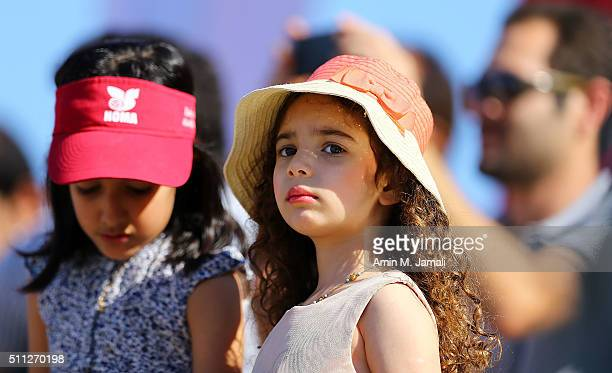 A young fan looks on during the gold medal match between Cherif Younousse and Jefferson Santos Pereira of Qatar against Oleg Stoyanovskiy and Artem...