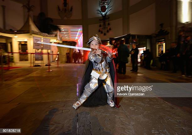 A young fan seen during the opening night of Walt Disney Pictures and Lucasfilm's Star Wars The Force Awakens at TCL Chinese Theatre on December 17...