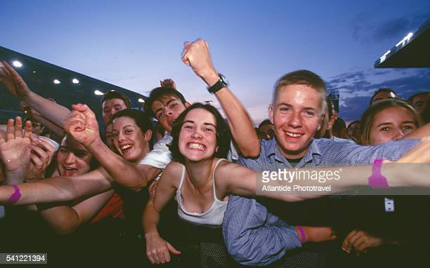 Young Fans at U2 Concert in Lansdowne Stadium