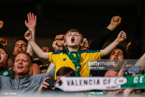 Young Fans Celtic during the UEFA Europa League - Group E match between Stade Rennais and Celtic on September 19, 2019 in Rennes, France.