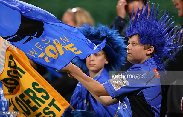Young fans show their support during the round nine Super Rugby match between the Force and the Cheetahs at nib Stadium on April 11 2015 in Perth...