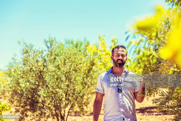 Young Farmer in Olive Yard