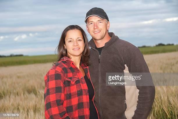 Young Farming Couple
